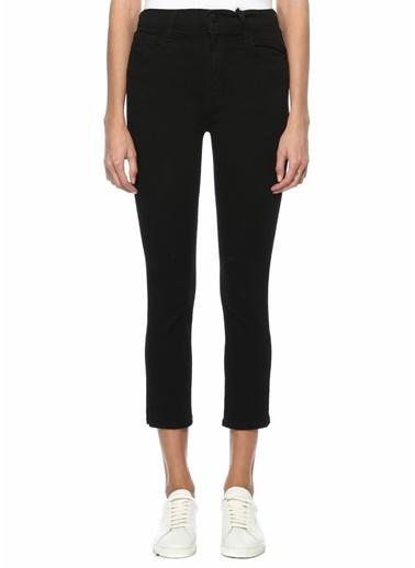 J Brand J Brand 101540481 Vanity Slim Fit Crop Jean Kadın Pantolon Siyah